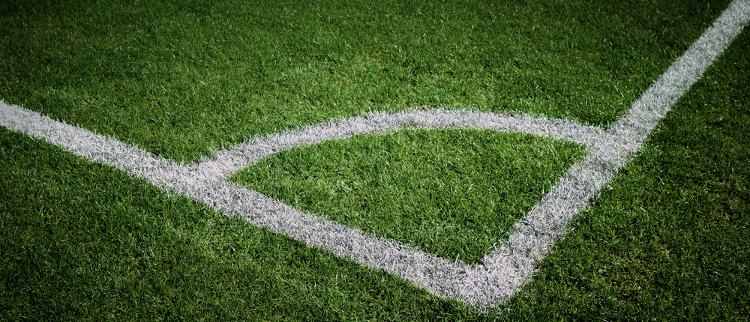 White Lines on Football Pitch