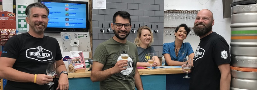 Electric Bear staff with Beer Bulli team