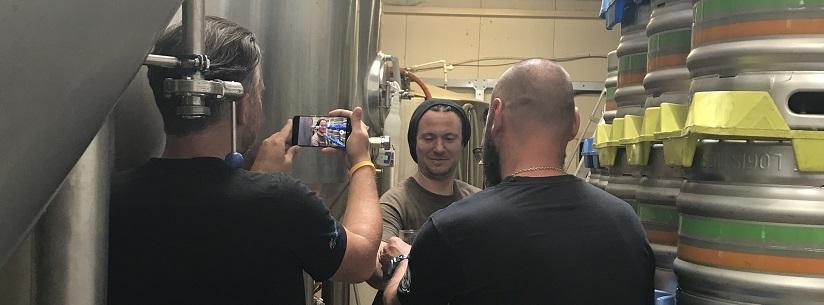 Beer Bulli team filming at Electric Bear
