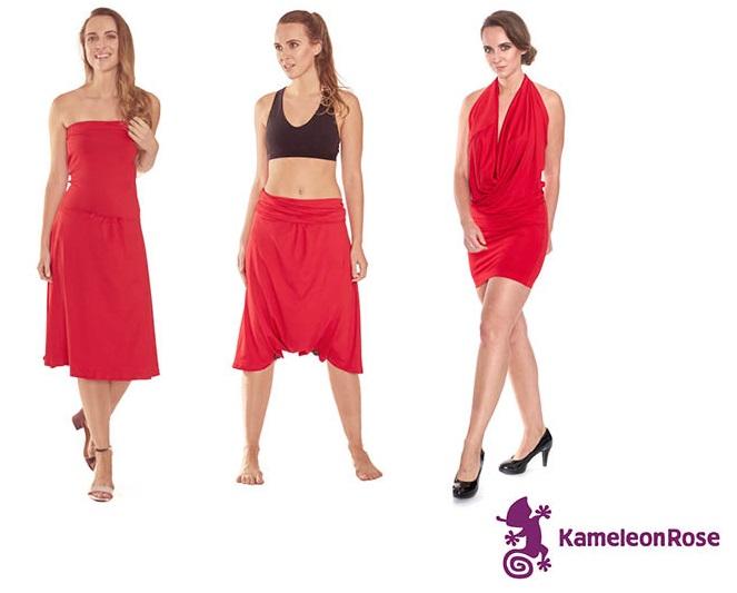 Kameleon Rose - red travel dress