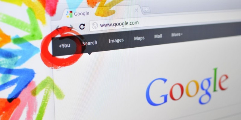 Google plus on a screen