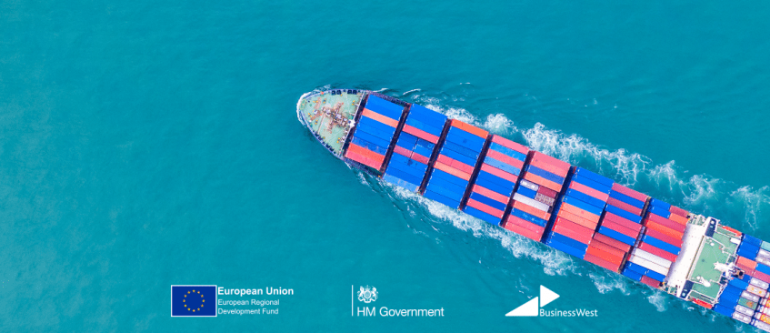 Container Ship in Ocean